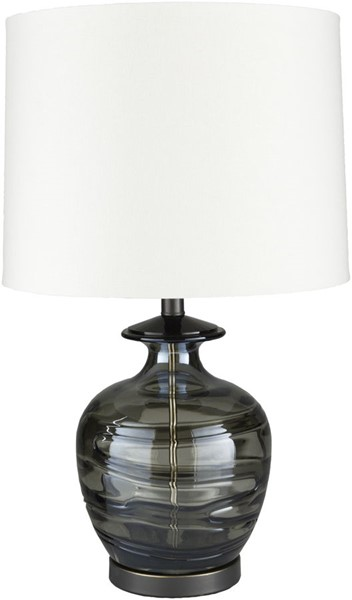 Surya Vickers Dark Green Glass Table Lamp - 15x25 VCK-001