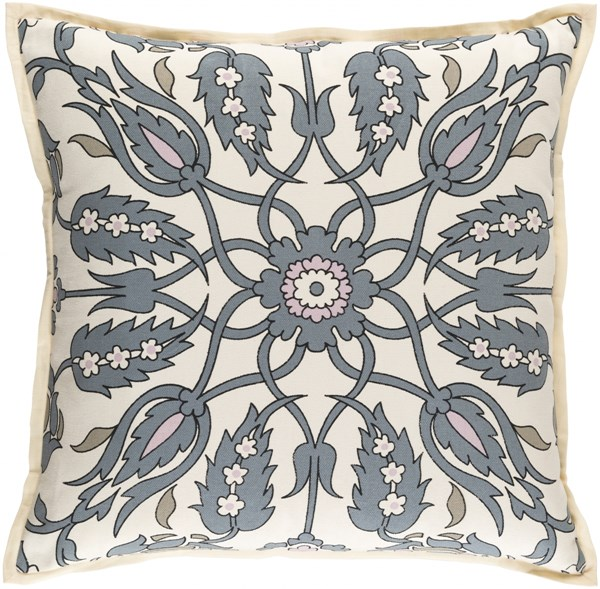 Vincent Slate Olive Ivory Down Linen Cotton Throw Pillow - 22x22x5 VCT007-2222D