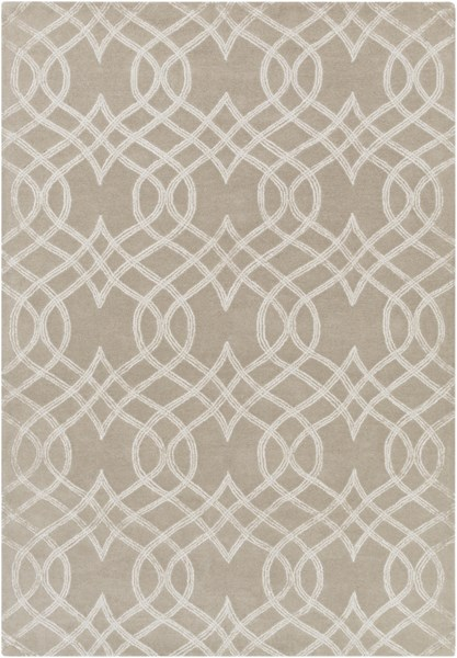 Vega Light Gray Wool Metallic Area Rug - 60 x 90 VEG3001-576