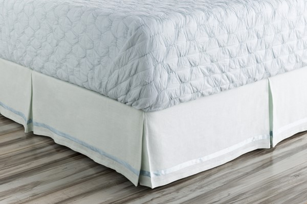 Versaille Contemporary Aqua Fabric Polyester Full Bed Skirts VERSAILLE-SKT-VAR