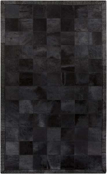 Vegas Modern Black Gray Hand Crafted Area Rugs 2038-VAR1