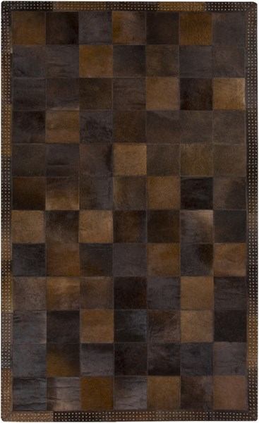 Vegas Chocolate Gold Hair On Hide Area Rug - 60 x 96 VGS3001-58