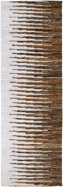 Vibe Mocha Chocolate Ivory Cotton Runner - 30 x 96 VIB1001-268