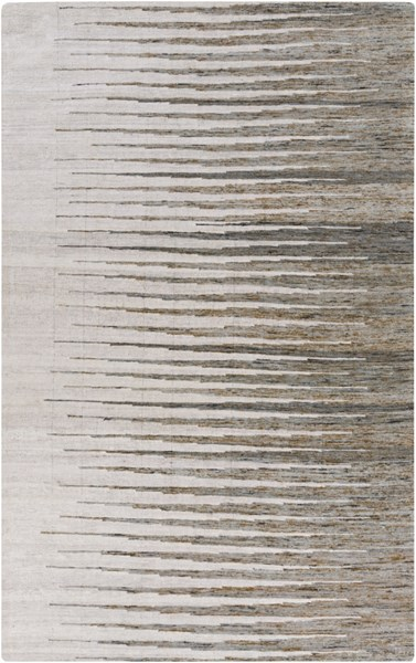 Surya Vibe Light Gray Dark Brown Ivory Recycled Silk Area Rug - 108x72 VIB1002-69