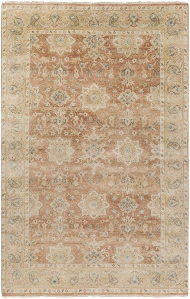 Victoria Gold Salmon Beige Moss New Zealand Wool Area Rug - 66 x 102 VIC2002-5686