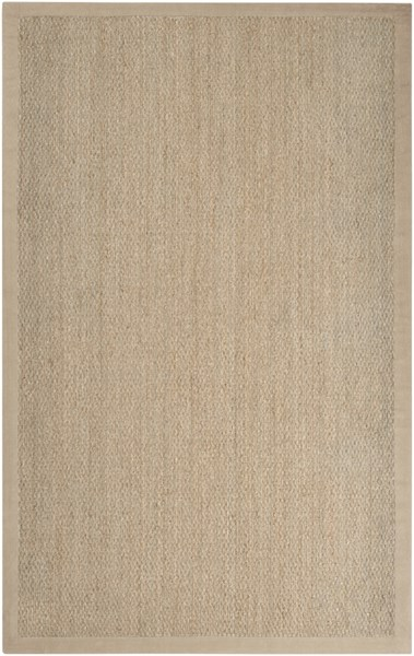 Village Contemporary Beige Mocha Seagrass Fabric Area Rugs 324-VAR1