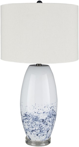 Surya Vickery Teal White Ceramic Table Lamp - 15x26.15 VKR-001