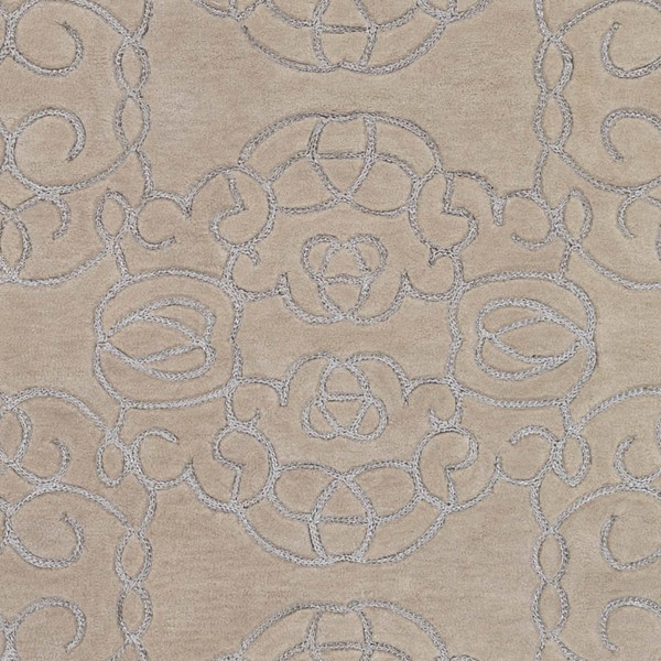 Surya Vernier Cream Light Gray Wool Polyester Sample Area Rugs VRN1002-RUG-VAR