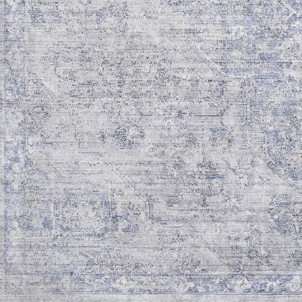 Surya Wonder Dark Purple Sky Blue White Viscose Polyester Sample Area Rug - 18x18 WAM2300-1616