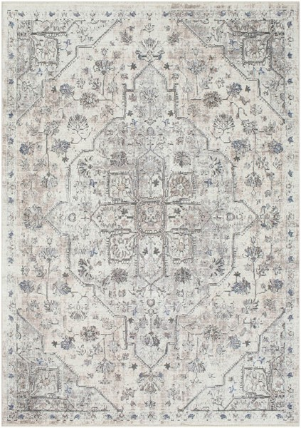 Surya Wonder Charcoal Gray White Viscose Polyester Area Rug - 150x108 WAM2301-9126