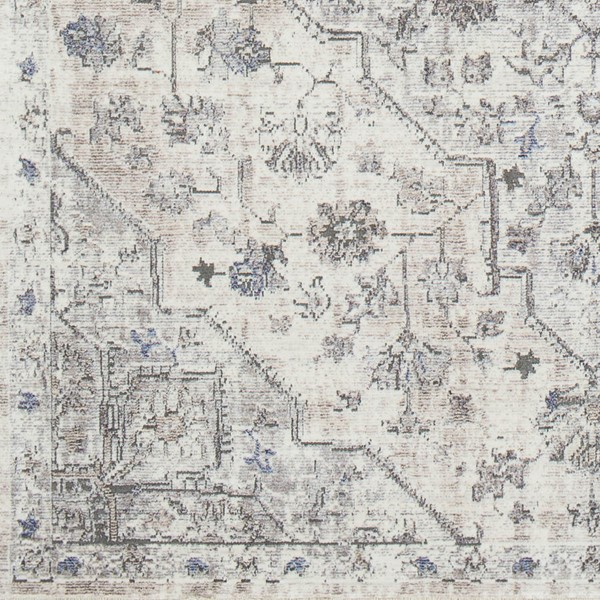 Surya Wonder Charcoal Gray White Viscose Polyester Sample Area Rug - 18x18 WAM2301-1616