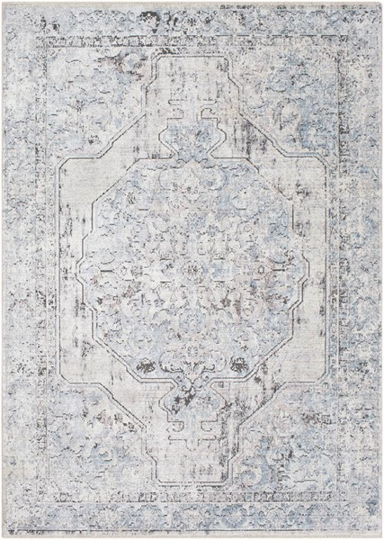 Surya Wonder Sky Blue Gray White Viscose Polyester Area Rug - 91x60 WAM2302-577