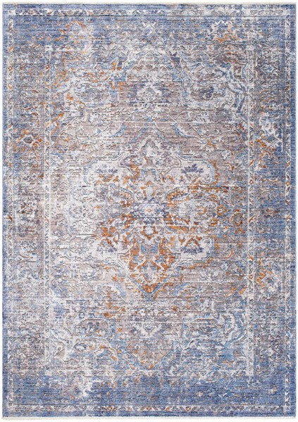 Surya Wonder Camel Sky Blue Dark Purple Viscose Polyester Area Rug - 150x108 WAM2303-9126