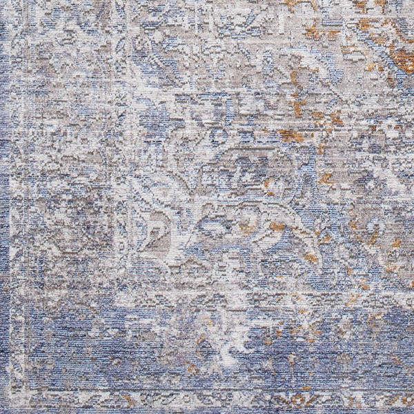 Surya Wonder Camel Sky Blue Dark Purple Viscose Polyester Sample Area Rug - 18x18 WAM2303-1616