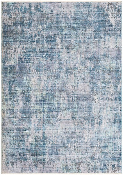 Surya Wonder Emerald Mint White Viscose Polyester Area Rug - 123x94 WAM2304-710103