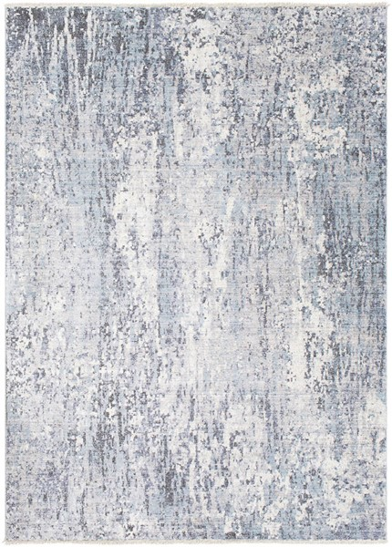 Surya Wonder Bright Blue Gray Dark Purple Viscose Polyester Area Rug - 123x94 WAM2305-710103