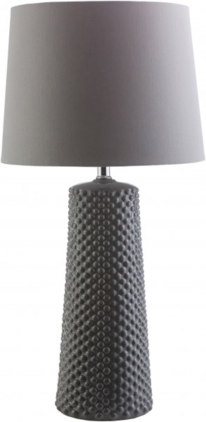 Wesley Grey Ceramic Linen Table Lamp - 14x28.25 WAS146-TBL