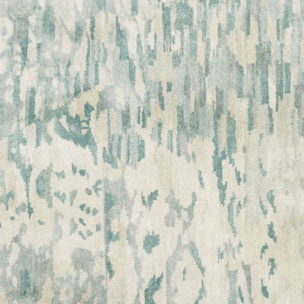 Surya Watercolor Teal Sage Light Gray Wool Sample Area Rug - 18x18 WAT5004-1616