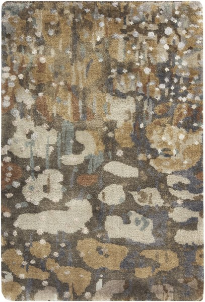 Watercolor Sea Foam Olive Ivory Wool Area Rug - 24 x 36 WAT5008-23