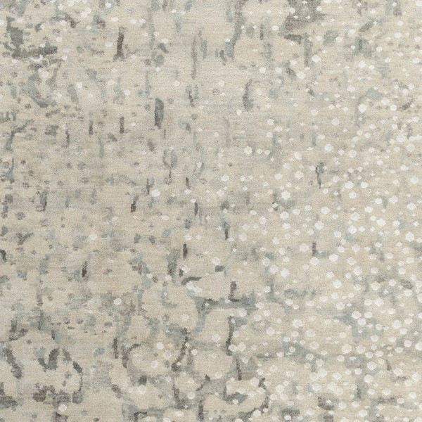 Surya Watercolor Charcoal Light Gray Ivory Wool Viscose Sample Area Rug - 18x18 WAT5011-1616