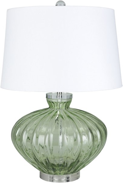 Surya Willoughby Emerald White Glass Table Lamp - 16x23.50 WBY-002