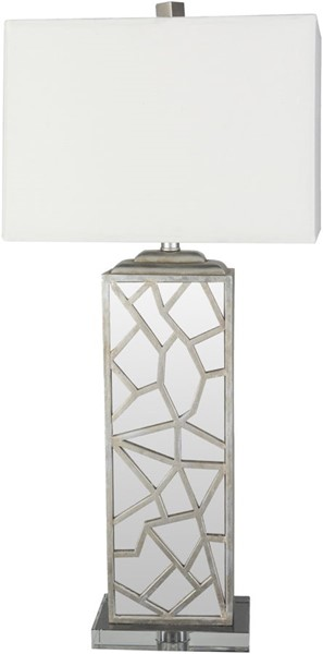 Surya Woodmere White Crystal Table Lamp - 16x34 WDM-001