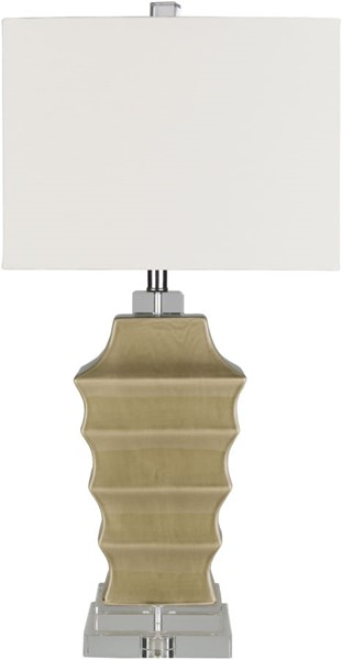 Surya Whitechapel Olive White Ceramic Table Lamp - 15x31 WHE-101