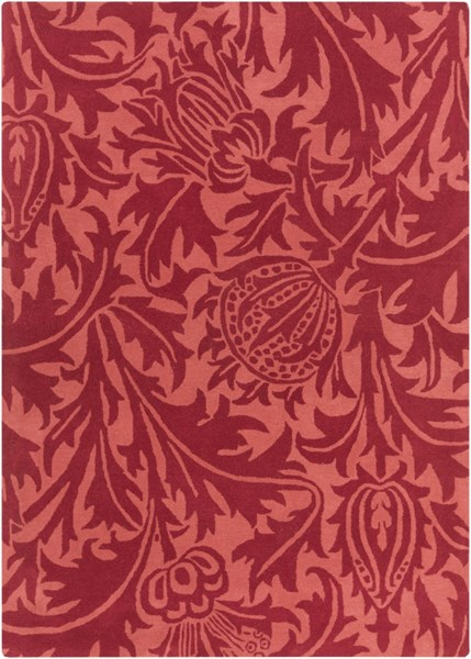 William Morris Cherry Hot Pink Wool Area Rug - 60 x 96 WLM3007-58