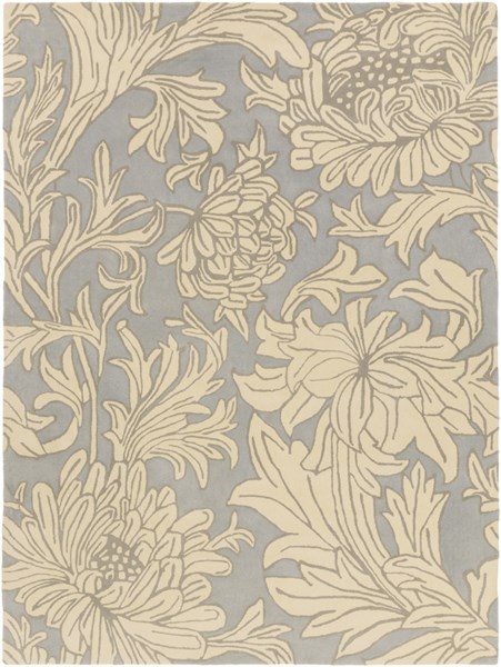William Morris Moss Sea Foam Wool Area Rug - 96 x 132 WLM3009-811