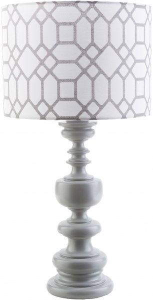Wilson Gray Resin Polyester Table Lamp - 14x28.5 WLS627-TBL