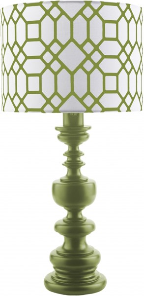 Wilson Green Resin Polyester Table Lamp - 14x28.5 WLS630-TBL
