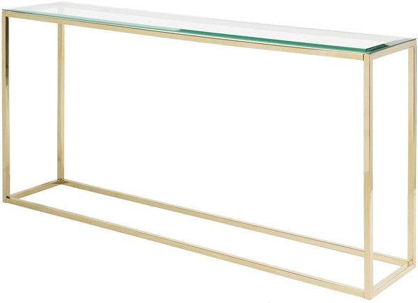 Surya Wyman Glass Metal Sofa Table WMN-001