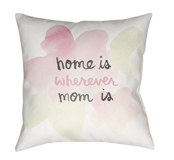 Surya Home White Pink Pillow Cover - 20x20 WMOM021-2020