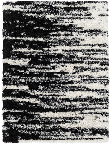 Surya Winfield Black White Polyester Area Rug - 87x63 WNF1001-5373