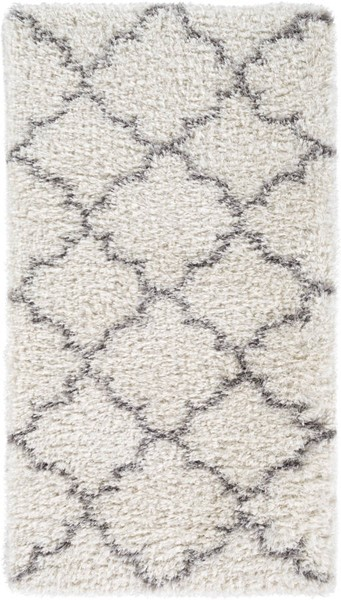 Surya Winfield White Black Polyester Area Rug - 43x24 WNF1002-237