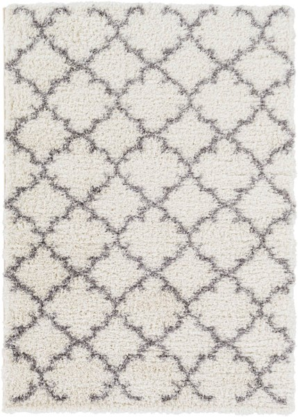 Surya Winfield White Black Polyester Area Rug - 87x63 WNF1002-5373