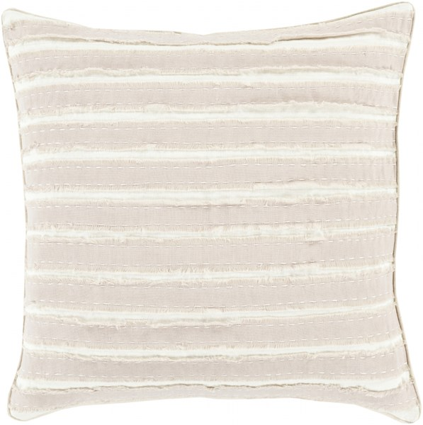Willow Taupe Ivory Poly Linen Throw Pillow - 22x22x5 WO002-2222P