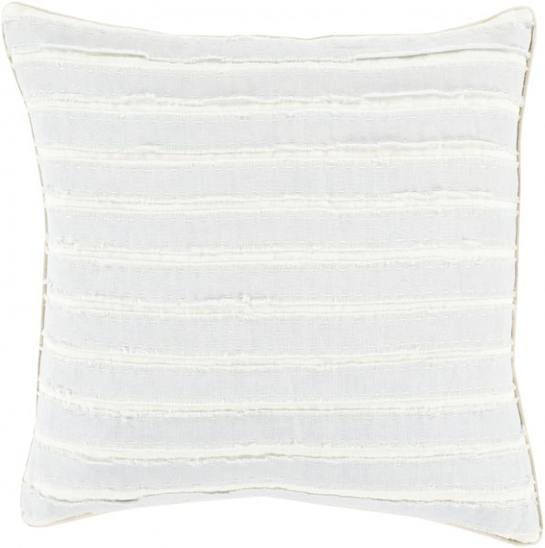 Willow Sky Blue Ivory Down Linen Throw Pillow - 20x20x5 WO003-2020D