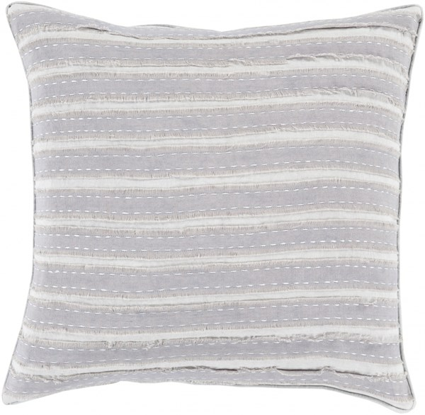 Willow Mauve Light Gray Poly Linen Throw Pillow - 20x20x5 WO004-2020P