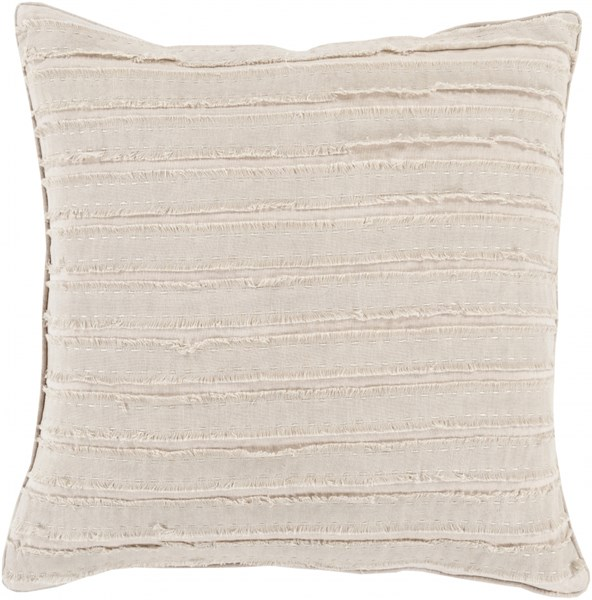 Willow Taupe Poly Linen Throw Pillow - 20x20x5 WO005-2020P
