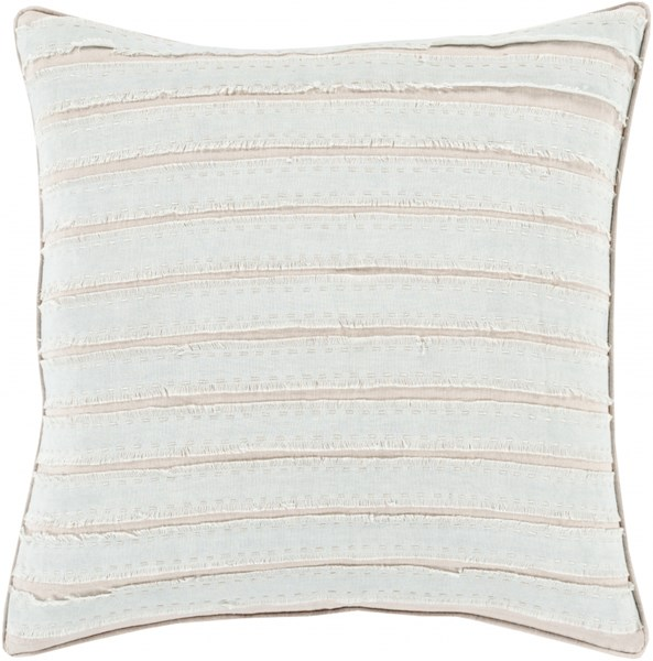 Willow Slate Taupe Down Linen Throw Pillow - 18x18x4 WO006-1818D