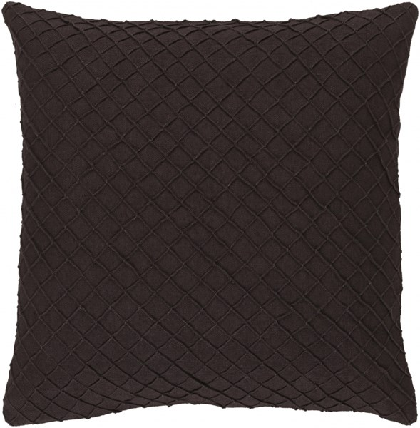 Wright Black Poly Linen Throw Pillow - 18x18x4 WR001-1818P