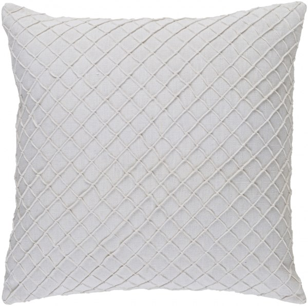 Wright Charcoal Poly Linen Throw Pillow - 18x18x4 WR004-1818P