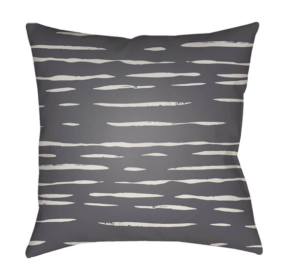 Surya Painted Stripes Grey Pillow Cover - 20x20 WRAN001-2020