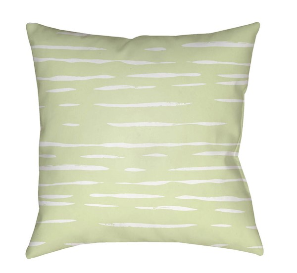 Surya Painted Stripes Lime Pillow Cover - 18x18 WRAN002-1818