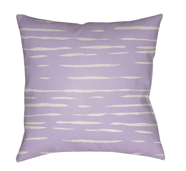 Surya Painted Stripes Lavender Pillow Cover - 20x20 WRAN003-2020