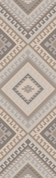 Wanderer Modern Gray Taupe Fabric Area Rugs 14880-VAR1