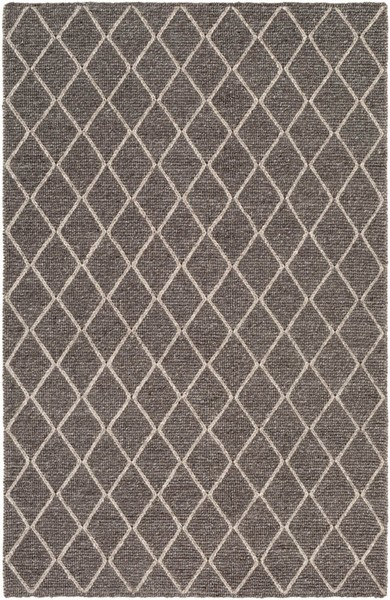Surya Whistler Charcoal Ivory Viscose Wool Area Rug - 36x24 WSR2301-23
