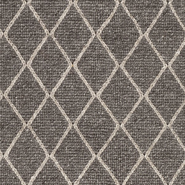 Surya Whistler Charcoal Ivory Viscose Wool Sample Area Rug - 18x18 WSR2301-1616