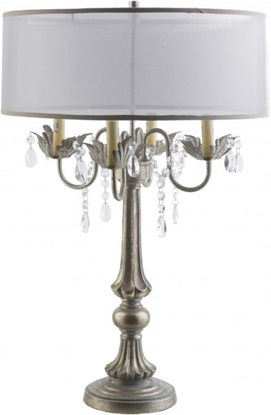 Westberg Ivory Polyresin Organza Table Lamp - 19x28 WST448-TBL